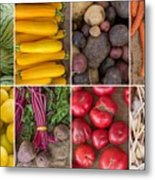 Fruit And Vegetable Collage Metal Print