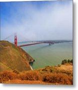 Golden Gate Bridge Vista Point Metal Print