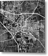 Iowa City Map Metal Print