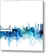 Istanbul Turkey Skyline Metal Print