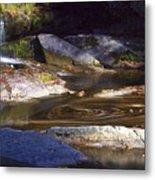 Waterfall Swirl Metal Print
