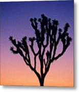 Joshua Tree With Special Effects Metal Print