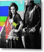 June Carter Cash Johnny Cash In Costume Old Tucson Az 1971-2008 Metal Print