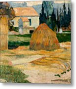 Landscape Near Arles Metal Print