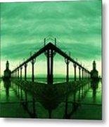 Lighthouse Reflections Metal Print