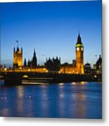 London  Skyline Big Ben Metal Print by David French