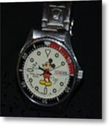 Mickey Mouse Watch Metal Print