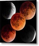 5 Moons Metal Print