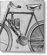 Motorcycle, 1895 Metal Print