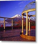 Mount Fuji In Autumn Metal Print