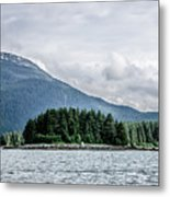 Mountain Range Scenes In June Around Juneau Alaska Metal Print