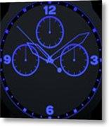 Neon Watch Face Metal Print