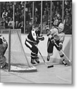 Nhl Hockey At The Pacific Coliseum Metal Print