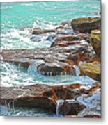 5- Ocean Reef Shoreline Metal Print