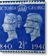 Old British Postage Stamp Metal Print