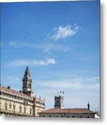 old town Obradoiro Square near santiago de compostela cathedral  Metal Print