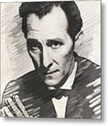 Peter Cushing, Vintage Actor Metal Print