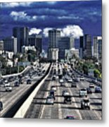 5 Pm Downtown Next Exit Metal Print