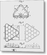 Pool Table Triangle Patent From 1915 Metal Print