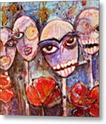 5 Poppies For The Dead Metal Print