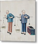 Portraying The Chinese Tea Traders Metal Print