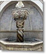 Public Fountain In Dubrovnik Croatia Metal Print