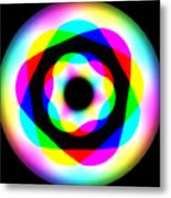 Rainbow Waves Metal Print
