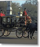Royal Carriage In London Metal Print