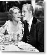 Silent Still: Man & Woman Metal Print