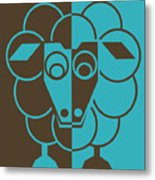 Sleep-sheep - Lonvig By Minymo Metal Print
