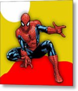Spiderman Collection Metal Print