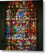Stained Glass At The Manizales Cathedral In Colombia Metal Print