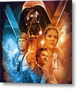 Star Wars Episode 2 Art Metal Print