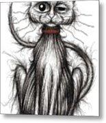 Stinker The Cat Metal Print