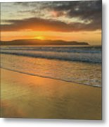 Sunrise Seascape At The Beach Metal Print