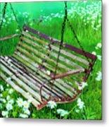 Swing In The Daisies Metal Print