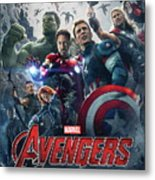 The Avengers Age Of Ultron 2015  Metal Print
