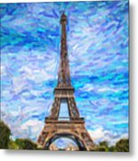 The Eiffel Tower Metal Print