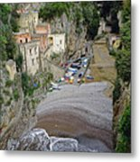 This Is A View Of Furore A Small Village Located On The Amalfi Coast In Italy  Metal Print
