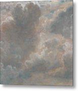 Title Cloud Study Metal Print