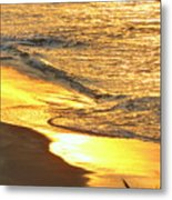 The Wave In Blue Metal Print