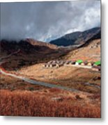 Top View Of Kupup Valley, Sikkim, Himalayan Mountain Range Metal Print