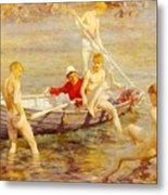 Tuke Henry Scott Ruby Gold And Malachite Henry Scott Tuke Metal Print