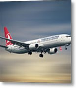 Turkish Airlines Boeing 737-9f2 Metal Print