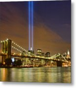 Twin Towers Of Light Metal Print