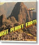 Ufo Postcards Home By Raphael Terra Metal Print