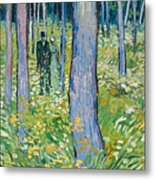 Undergrowth With Two Figures Metal Print