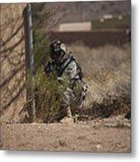 U.s. Soldier Conducts A Combat Training Metal Print
