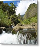 View Of Iao Needle Metal Print