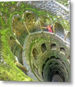 Woman Tourist In Sintra Metal Print
